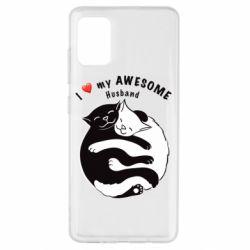 Чехол для Samsung A51 Cats and love
