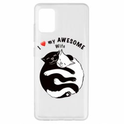 Чехол для Samsung A51 Cats with a smile