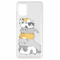 Чохол для Samsung A51 Cats