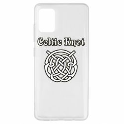 Чохол для Samsung A51 Celtic knot black and white