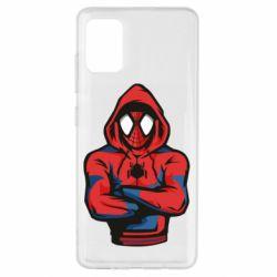 Чохол для Samsung A51 Людина павук в толстовці