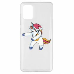 Чохол для Samsung A51 Christmas Unicorn