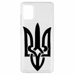 Чехол для Samsung A51 Coat of arms of Ukraine torn inside