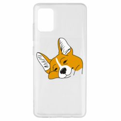 Чохол для Samsung A51 Corgi is dozing