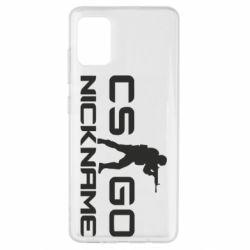 Чехол для Samsung A51 Counter-Strike nickname