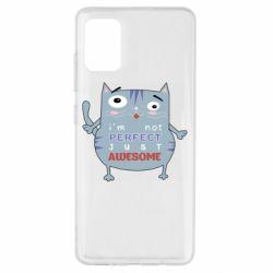 Чехол для Samsung A51 Cute cat and text