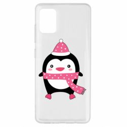 Чехол для Samsung A51 Cute Christmas penguin