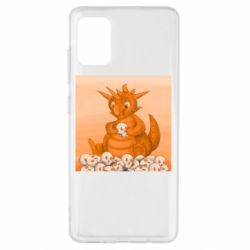 Чохол для Samsung A51 Cute dragon with skulls