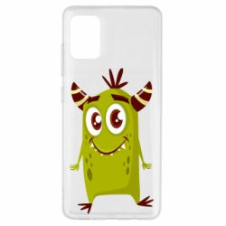 Чохол для Samsung A51 Cute green monster