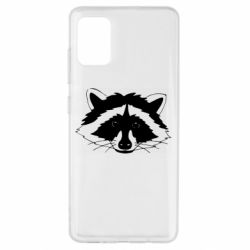 Чохол для Samsung A51 Cute raccoon face