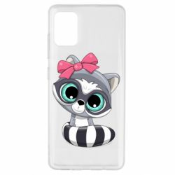 Чехол для Samsung A51 Cute raccoon