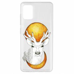 Чехол для Samsung A51 Deer and moon