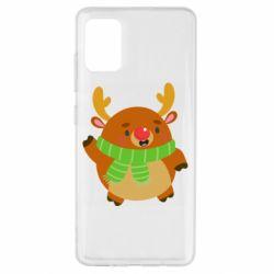 Чехол для Samsung A51 Deer in a scarf