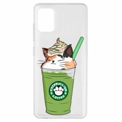 Чехол для Samsung A51 Delicious cat