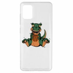 Чехол для Samsung A51 Dinosaur and basketball
