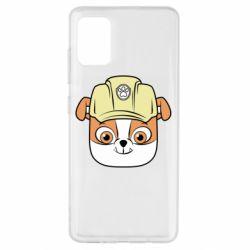 Чохол для Samsung A51 Dog in helmet