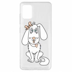 Чехол для Samsung A51 Dog with a bow
