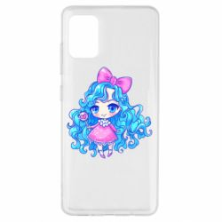 Чохол для Samsung A51 Doll with blue hair