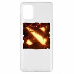 Чехол для Samsung A51 Dota 2 Fire Logo