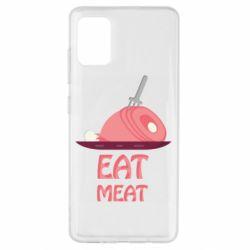 Чехол для Samsung A51 Eat meat