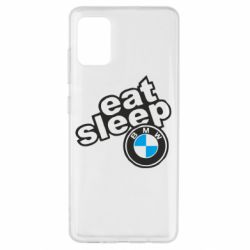 Чохол для Samsung A51 Eat, sleep, BMW