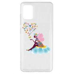 Чехол для Samsung A51 Fairy sits on a flower with butterflies