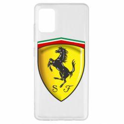 Чехол для Samsung A51 Ferrari 3D Logo