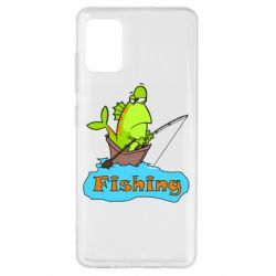 Чехол для Samsung A51 Fish Fishing