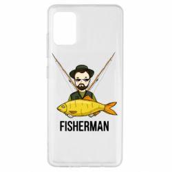 Чохол для Samsung A51 Fisherman and fish