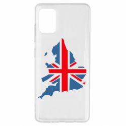 Чехол для Samsung A51 Флаг Англии