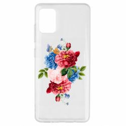 Чохол для Samsung A51 Flowers and butterfly
