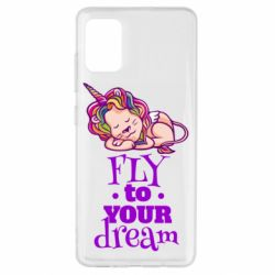 Чохол для Samsung A51 Fly to your dream and lion
