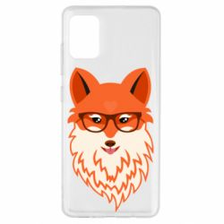 Чохол для Samsung A51 Fox with a mole in the form of a heart