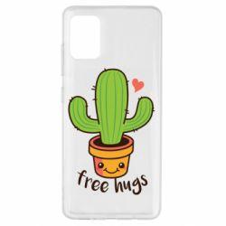 Чехол для Samsung A51 Free Hugs Cactus