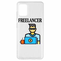Чехол для Samsung A51 Freelancer text