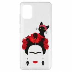 Чохол для Samsung A51 Frida Kalo and cat