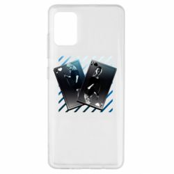 Чехол для Samsung A51 Gambling Cards The Witcher and Cyrilla