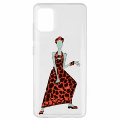 Чехол для Samsung A51 Girl in a dress without a face