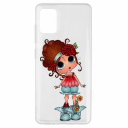 Чехол для Samsung A51 Girl with big eyes