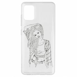 Чехол для Samsung A51 Girl with dreadlocks