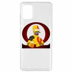 Чохол для Samsung A51 God of war: Simpson