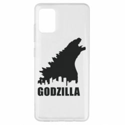 Чохол для Samsung A51 Godzilla and city