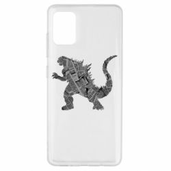 Чохол для Samsung A51 Godzilla from the newspapers