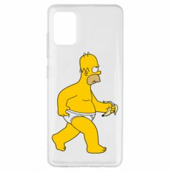 Чехол для Samsung A51 Гомер Симпсон в трусиках
