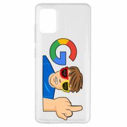 Чохол для Samsung A51 Google guy Fuck You