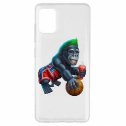 Чехол для Samsung A51 Gorilla and basketball ball