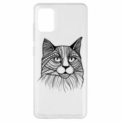 Чохол для Samsung A51 Graphic cat
