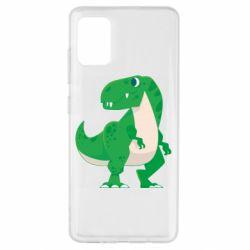 Чохол для Samsung A51 Green little dinosaur