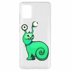 Чехол для Samsung A51 Green monster snail