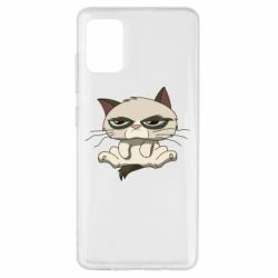 Чохол для Samsung A51 Grumpy Cat Art nope